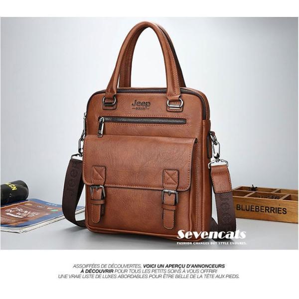 ブリーフケース メンズ ビジネスバッグ ショルダーバッグ レザーバッグ カバン 通勤バッグ 2way 斜めがけ 大容量 鞄 送料無料|sevencats|09