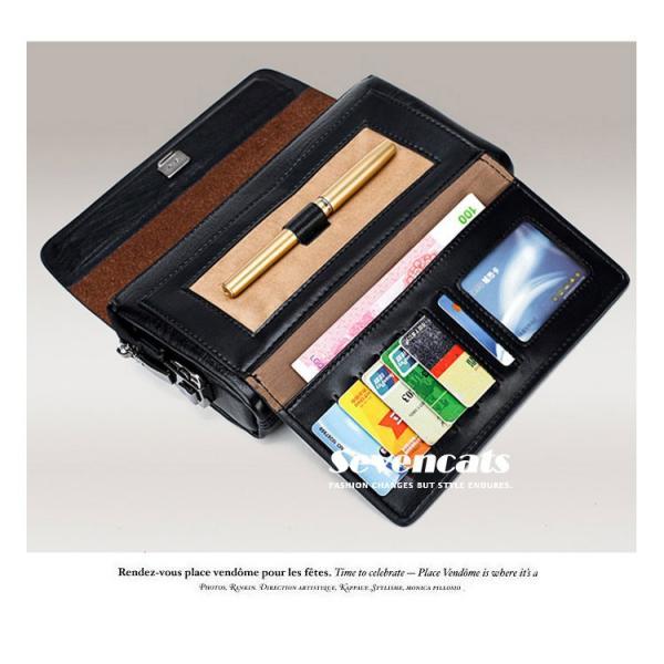ハンドバッグ 財布 メンズ 長財布 ラウンドファスナー カード 収納 携帯 スマート 大容量 小銭入れ お札入れ 送料無料|sevencats|17