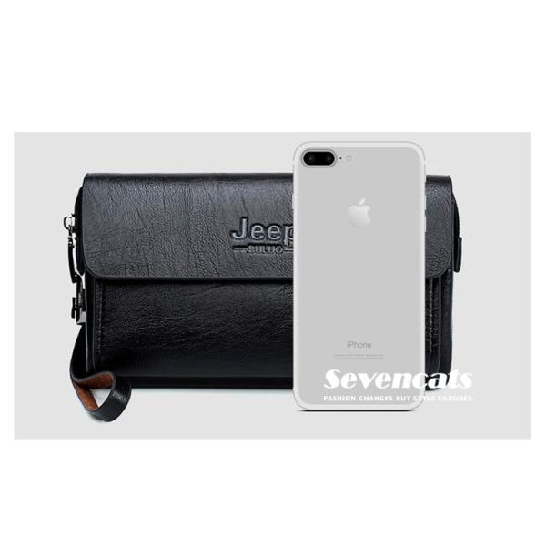 ハンドバッグ 財布 メンズ 長財布 ラウンドファスナー カード 収納 携帯 スマート 大容量 小銭入れ お札入れ 送料無料|sevencats|18