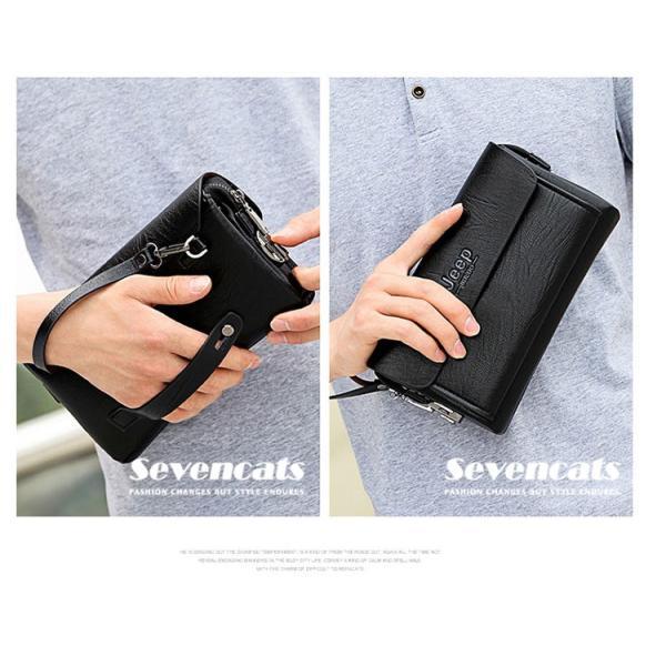 ハンドバッグ 財布 メンズ 長財布 ラウンドファスナー カード 収納 携帯 スマート 大容量 小銭入れ お札入れ 送料無料|sevencats|03