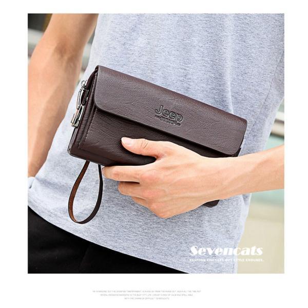 ハンドバッグ 財布 メンズ 長財布 ラウンドファスナー カード 収納 携帯 スマート 大容量 小銭入れ お札入れ 送料無料|sevencats|04