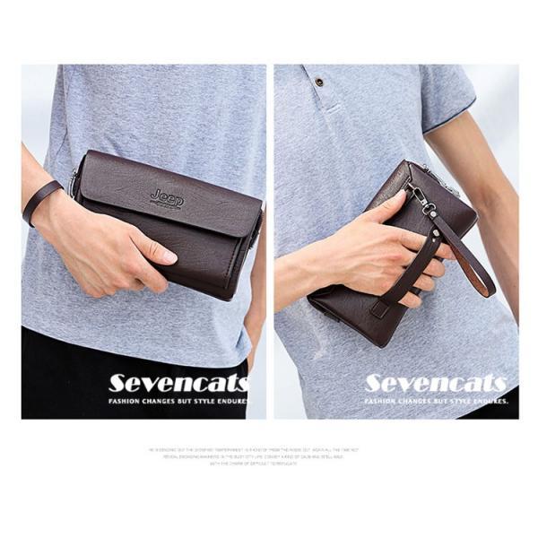 ハンドバッグ 財布 メンズ 長財布 ラウンドファスナー カード 収納 携帯 スマート 大容量 小銭入れ お札入れ 送料無料|sevencats|05