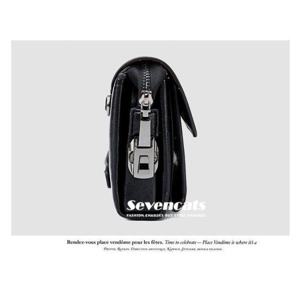 ハンドバッグ 財布 メンズ 長財布 ラウンドファスナー カード 収納 携帯 スマート 大容量 小銭入れ お札入れ 送料無料|sevencats|08