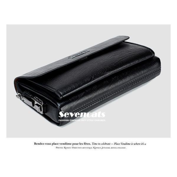 ハンドバッグ 財布 メンズ 長財布 ラウンドファスナー カード 収納 携帯 スマート 大容量 小銭入れ お札入れ 送料無料|sevencats|10