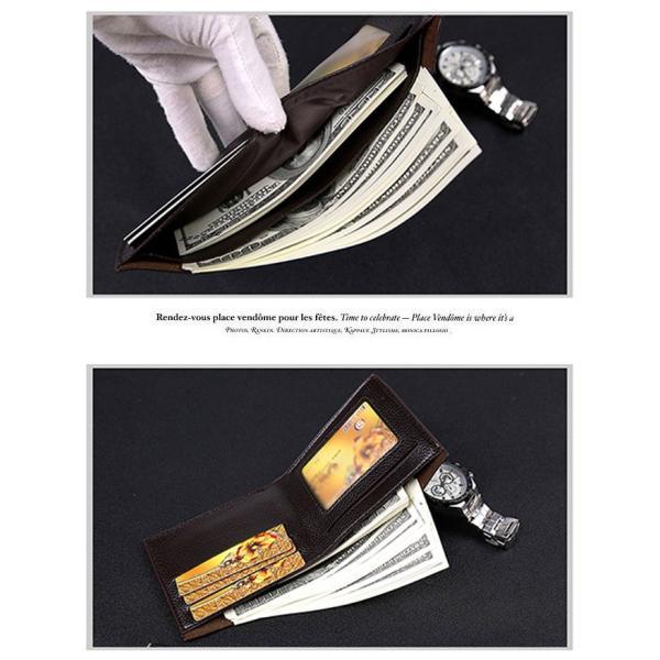 財布 メンズファッション ビジネス 二つ折り財布 さいふ 多機能 カード 収納 携帯 お札入れ 小銭入れ 短財布 送料無料|sevencats|11