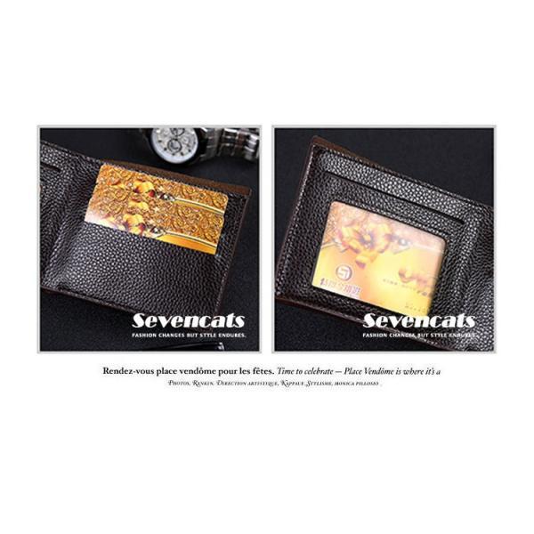 財布 メンズファッション ビジネス 二つ折り財布 さいふ 多機能 カード 収納 携帯 お札入れ 小銭入れ 短財布 送料無料|sevencats|12