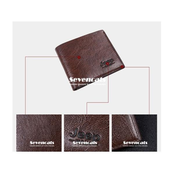 財布 メンズファッション ビジネス 二つ折り財布 さいふ 多機能 カード 収納 携帯 お札入れ 小銭入れ 短財布 送料無料|sevencats|13