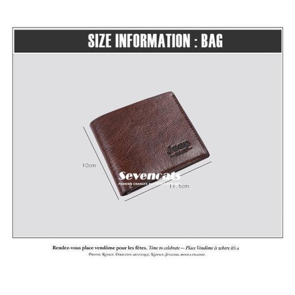 財布 メンズファッション ビジネス 二つ折り財布 さいふ 多機能 カード 収納 携帯 お札入れ 小銭入れ 短財布 送料無料|sevencats|14