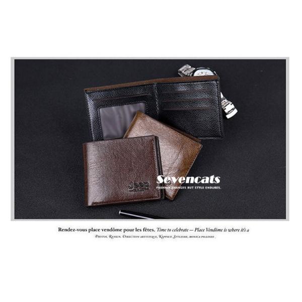 財布 メンズファッション ビジネス 二つ折り財布 さいふ 多機能 カード 収納 携帯 お札入れ 小銭入れ 短財布 送料無料|sevencats|03