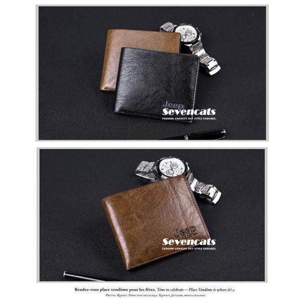財布 メンズファッション ビジネス 二つ折り財布 さいふ 多機能 カード 収納 携帯 お札入れ 小銭入れ 短財布 送料無料|sevencats|04