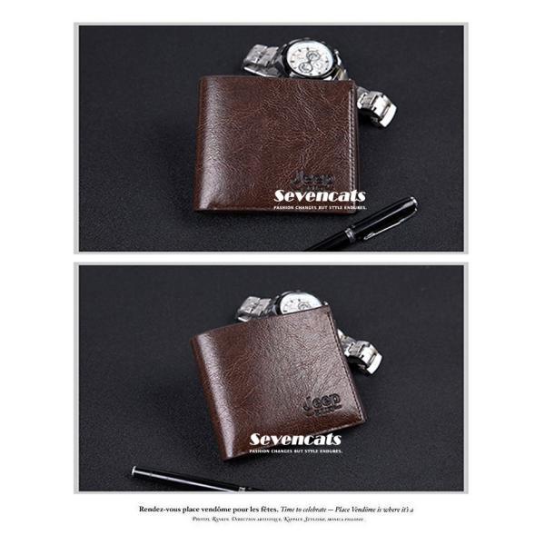 財布 メンズファッション ビジネス 二つ折り財布 さいふ 多機能 カード 収納 携帯 お札入れ 小銭入れ 短財布 送料無料|sevencats|05