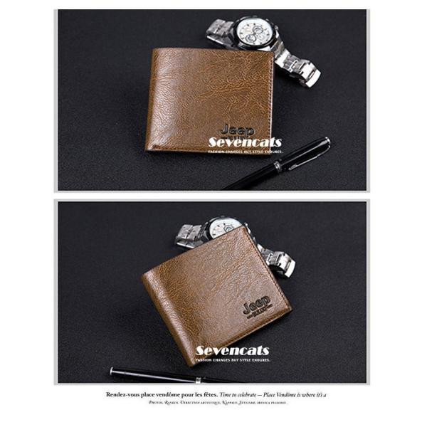 財布 メンズファッション ビジネス 二つ折り財布 さいふ 多機能 カード 収納 携帯 お札入れ 小銭入れ 短財布 送料無料|sevencats|06