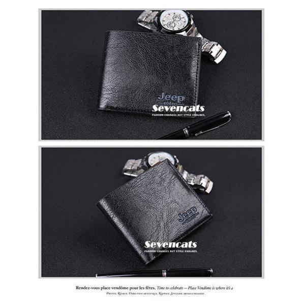財布 メンズファッション ビジネス 二つ折り財布 さいふ 多機能 カード 収納 携帯 お札入れ 小銭入れ 短財布 送料無料|sevencats|07
