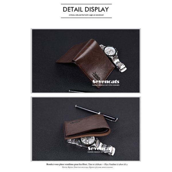 財布 メンズファッション ビジネス 二つ折り財布 さいふ 多機能 カード 収納 携帯 お札入れ 小銭入れ 短財布 送料無料|sevencats|08