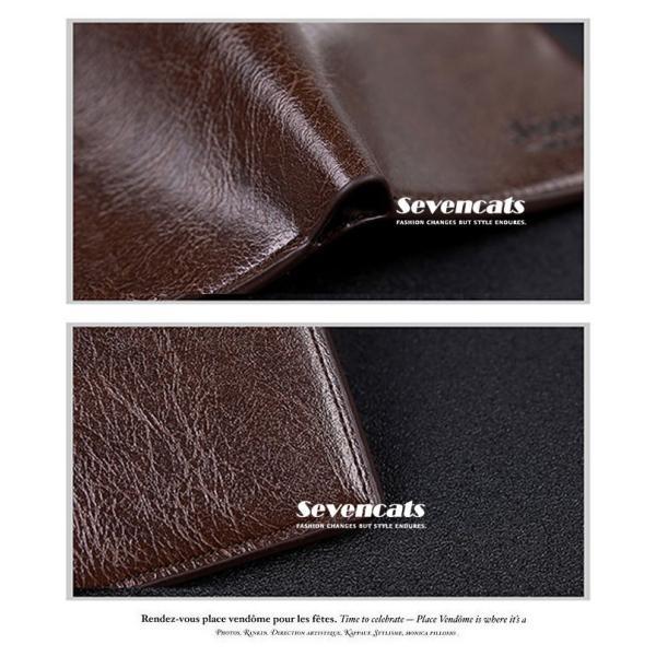 財布 メンズファッション ビジネス 二つ折り財布 さいふ 多機能 カード 収納 携帯 お札入れ 小銭入れ 短財布 送料無料|sevencats|09