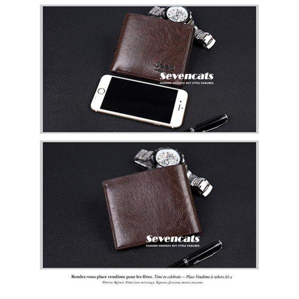 財布 メンズファッション ビジネス 二つ折り財布 さいふ 多機能 カード 収納 携帯 お札入れ 小銭入れ 短財布 送料無料|sevencats|10