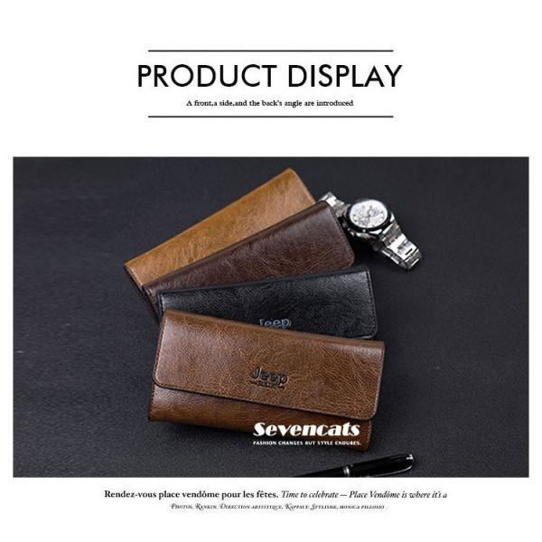 財布 二つ折り メンズ 長財布  ビジネス  大容量 さいふ 多機能 カード 収納 携帯 お札入れ 小銭入れ バッグ 送料無料|sevencats|02