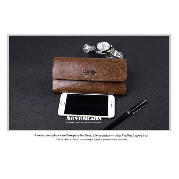 財布 二つ折り メンズ 長財布  ビジネス  大容量 さいふ 多機能 カード 収納 携帯 お札入れ 小銭入れ バッグ 送料無料|sevencats|11