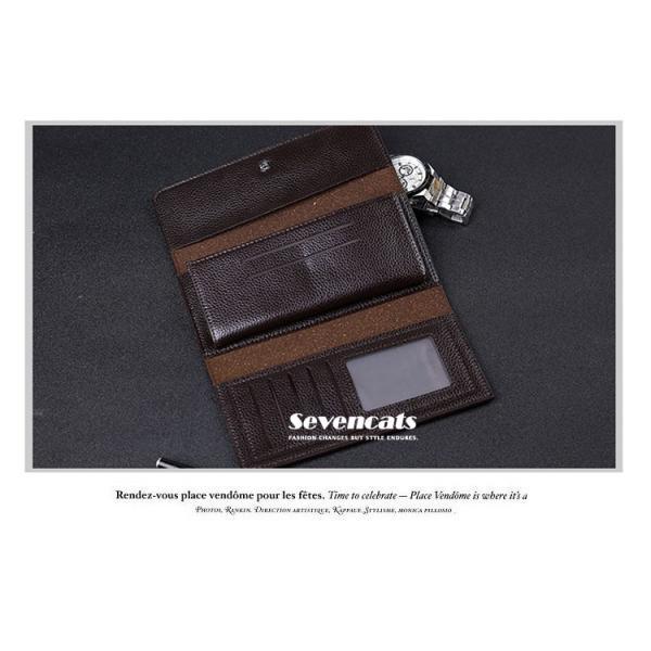 財布 二つ折り メンズ 長財布  ビジネス  大容量 さいふ 多機能 カード 収納 携帯 お札入れ 小銭入れ バッグ 送料無料|sevencats|12