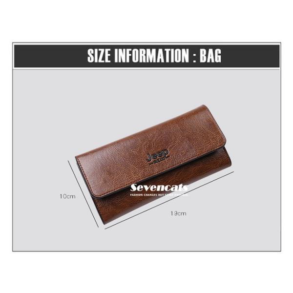財布 二つ折り メンズ 長財布  ビジネス  大容量 さいふ 多機能 カード 収納 携帯 お札入れ 小銭入れ バッグ 送料無料|sevencats|13