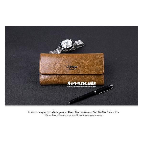 財布 二つ折り メンズ 長財布  ビジネス  大容量 さいふ 多機能 カード 収納 携帯 お札入れ 小銭入れ バッグ 送料無料|sevencats|03