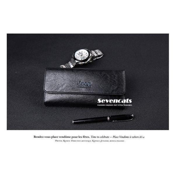 財布 二つ折り メンズ 長財布  ビジネス  大容量 さいふ 多機能 カード 収納 携帯 お札入れ 小銭入れ バッグ 送料無料|sevencats|04