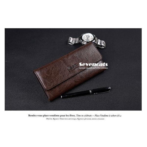 財布 二つ折り メンズ 長財布  ビジネス  大容量 さいふ 多機能 カード 収納 携帯 お札入れ 小銭入れ バッグ 送料無料|sevencats|05