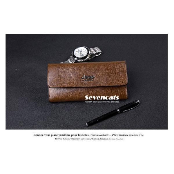 財布 二つ折り メンズ 長財布  ビジネス  大容量 さいふ 多機能 カード 収納 携帯 お札入れ 小銭入れ バッグ 送料無料|sevencats|06