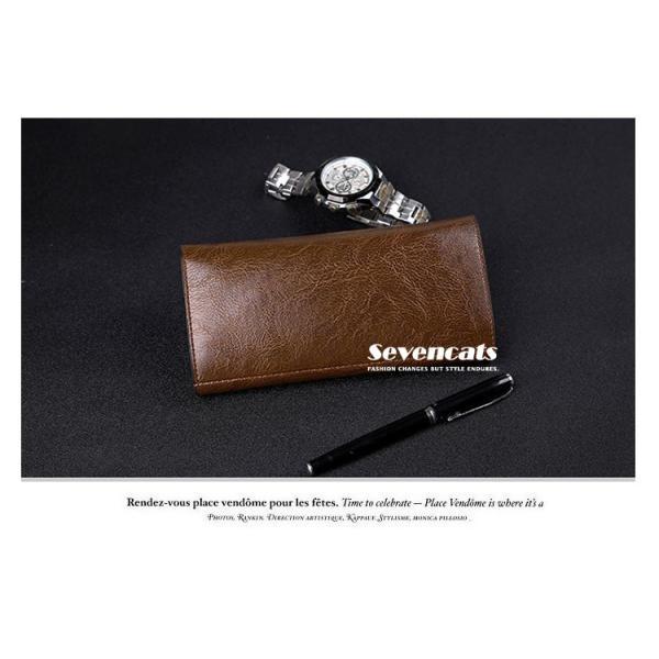 財布 二つ折り メンズ 長財布  ビジネス  大容量 さいふ 多機能 カード 収納 携帯 お札入れ 小銭入れ バッグ 送料無料|sevencats|07