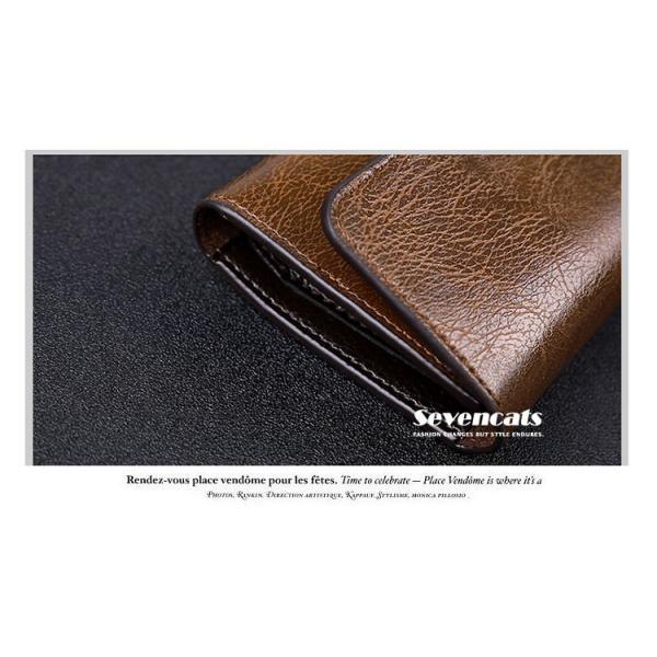 財布 二つ折り メンズ 長財布  ビジネス  大容量 さいふ 多機能 カード 収納 携帯 お札入れ 小銭入れ バッグ 送料無料|sevencats|09
