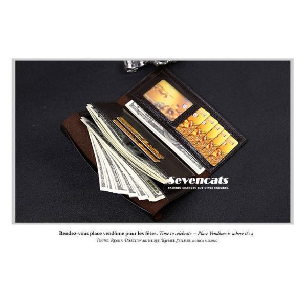 財布 二つ折り メンズ 長財布  ビジネス  大容量 さいふ 多機能 カード 収納 携帯 お札入れ 小銭入れ バッグ 送料無料|sevencats|10