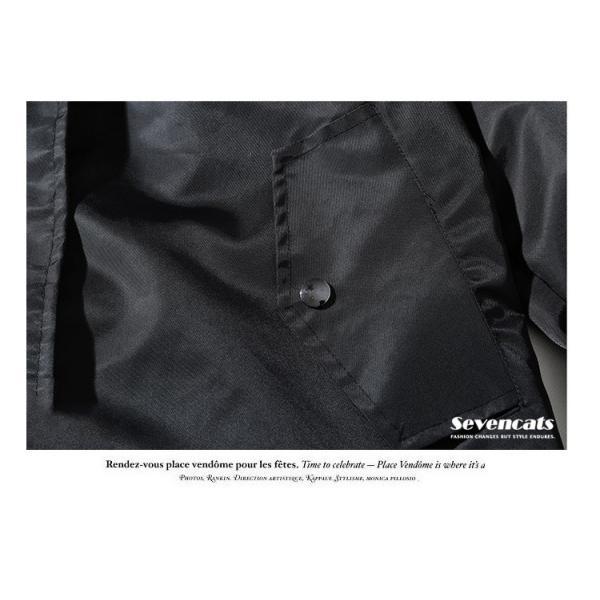 メンズ アウターコートトレンチコート  ジャケット ロング トレンチコート カジュアル パーカー 秋  メンズ スリム ジャケット2018新品|sevencats|16