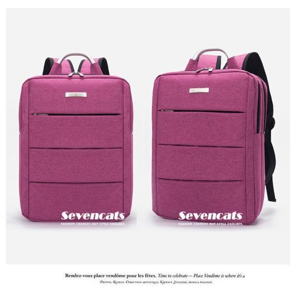 リュックサック メンズ レディース ビジネスリュック バックパック ビジネスバッグ デイパック リュックバッグ 大容量 USB対応 防水 通学 通勤 旅行 軽量 かばん sevencats 13