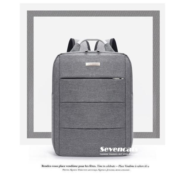 リュックサック メンズ レディース ビジネスリュック バックパック ビジネスバッグ デイパック リュックバッグ 大容量 USB対応 防水 通学 通勤 旅行 軽量 かばん sevencats 07