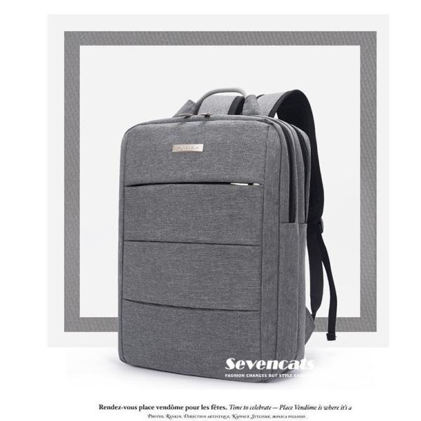 リュックサック メンズ レディース ビジネスリュック バックパック ビジネスバッグ デイパック リュックバッグ 大容量 USB対応 防水 通学 通勤 旅行 軽量 かばん sevencats 08