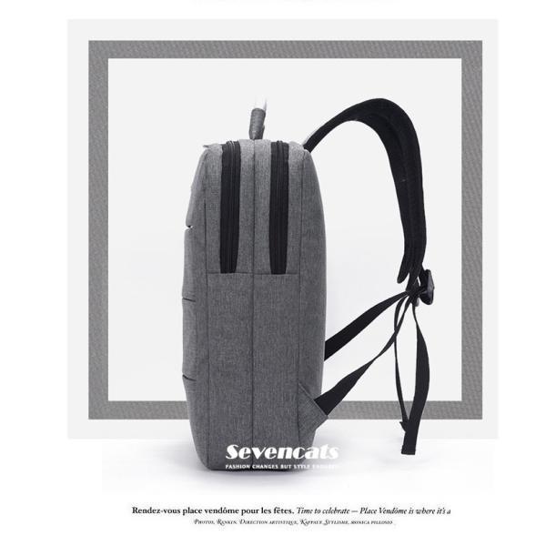 リュックサック メンズ レディース ビジネスリュック バックパック ビジネスバッグ デイパック リュックバッグ 大容量 USB対応 防水 通学 通勤 旅行 軽量 かばん sevencats 09