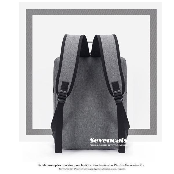 リュックサック メンズ レディース ビジネスリュック バックパック ビジネスバッグ デイパック リュックバッグ 大容量 USB対応 防水 通学 通勤 旅行 軽量 かばん sevencats 10
