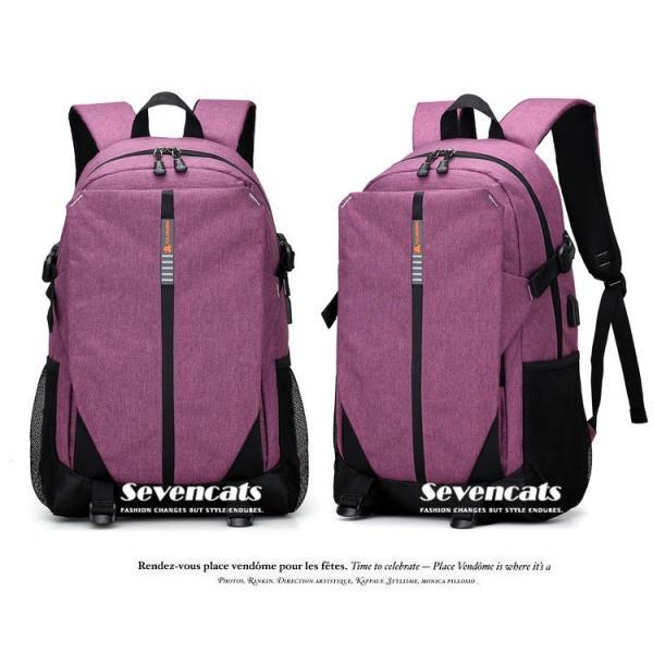 大容量メンズ リュックサック ビジネスリュック 多機能リュック 人気  防水 通学 通勤 旅行 軽量 かばん|sevencats|12