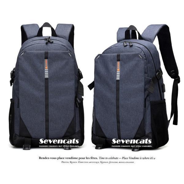 大容量メンズ リュックサック ビジネスリュック 多機能リュック 人気  防水 通学 通勤 旅行 軽量 かばん|sevencats|13