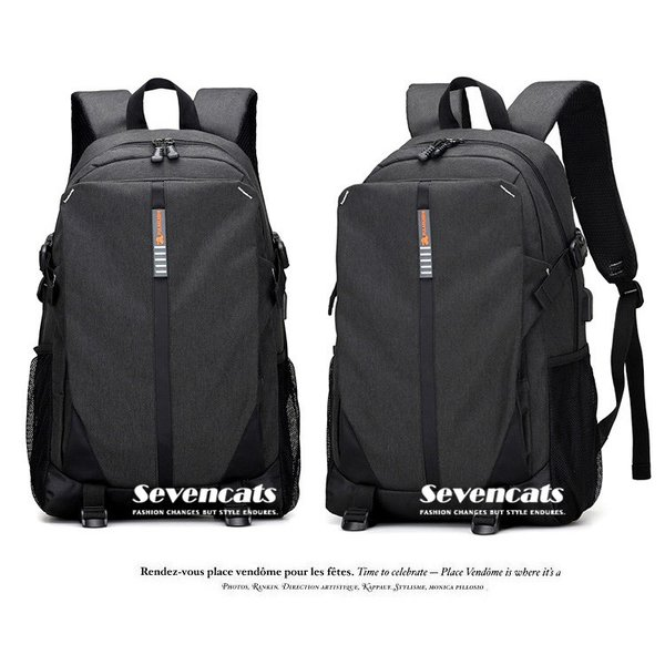 大容量メンズ リュックサック ビジネスリュック 多機能リュック 人気  防水 通学 通勤 旅行 軽量 かばん|sevencats|14