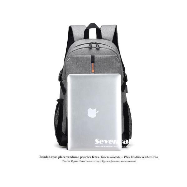 大容量メンズ リュックサック ビジネスリュック 多機能リュック 人気  防水 通学 通勤 旅行 軽量 かばん|sevencats|18