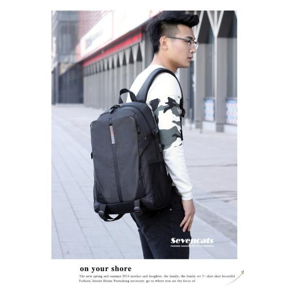 大容量メンズ リュックサック ビジネスリュック 多機能リュック 人気  防水 通学 通勤 旅行 軽量 かばん|sevencats|05