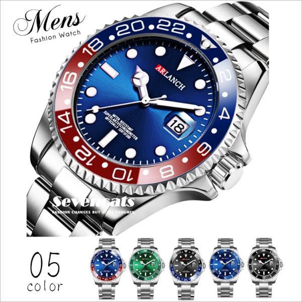 腕時計メンズクォーツ時計カレンダー付きビジネス夜光ラージダイヤルステンレススチールベルト時計カジュアルファッション防水
