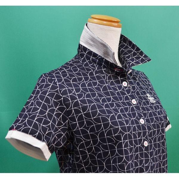 新作セール20%OFF マンシングウェア レディース ポロシャツ 半袖 2018春夏 ゴルフウェア 紺ネイビー MGWLJA02 日本製 sevenebisu-net 05