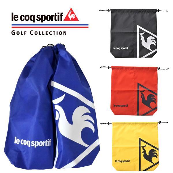ルコックゴルフ メンズ シューズケース QQBLJA22 ゴルフウェア ブランド ブルー 黒 赤 イエロー ルコック メール便