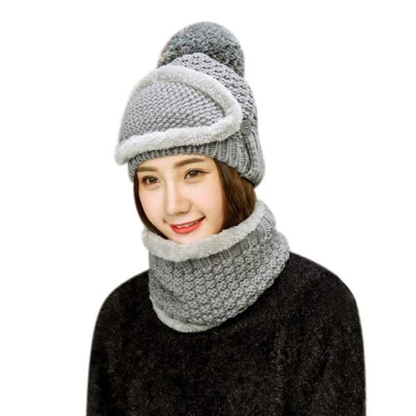 帽子 レディース ニット帽 女の子 目出し帽 ハット 冬 マスク ニットキャップ ふわふわ もこもこ 保温 防寒 ネックウォーマー バイク 自転車 スキー スノーボー
