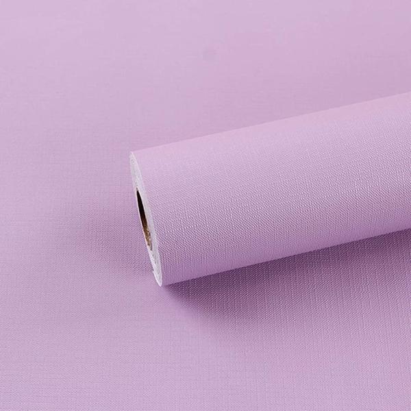 無地壁紙シール防水リメイクシートのり付き剥がせるカッティングシート紫45cmx9.7m(紫色,45cmx9.7m)