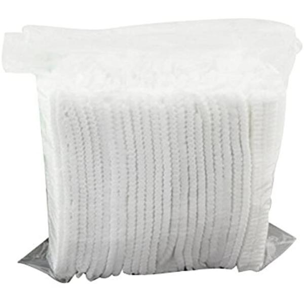 ROSENICE 不織布キャップ 使い捨て シャワーキャップ 18インチ 100個 白2