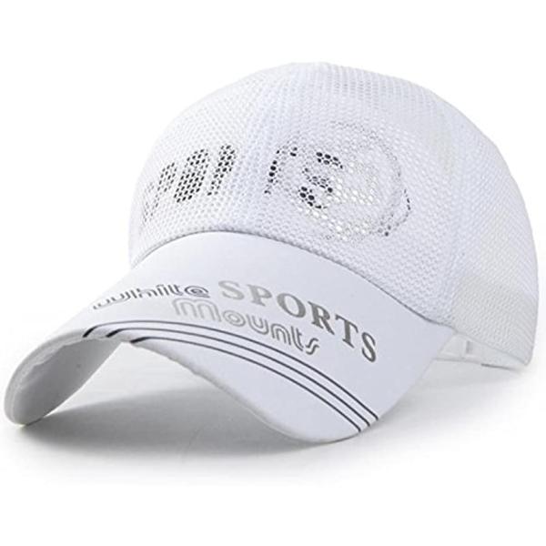 ベイビーマインメッシュキャップロゴカジュアルつば長野球帽帽子アウトドア釣りゴルフ通気性メンズ(5.オフホワイト)