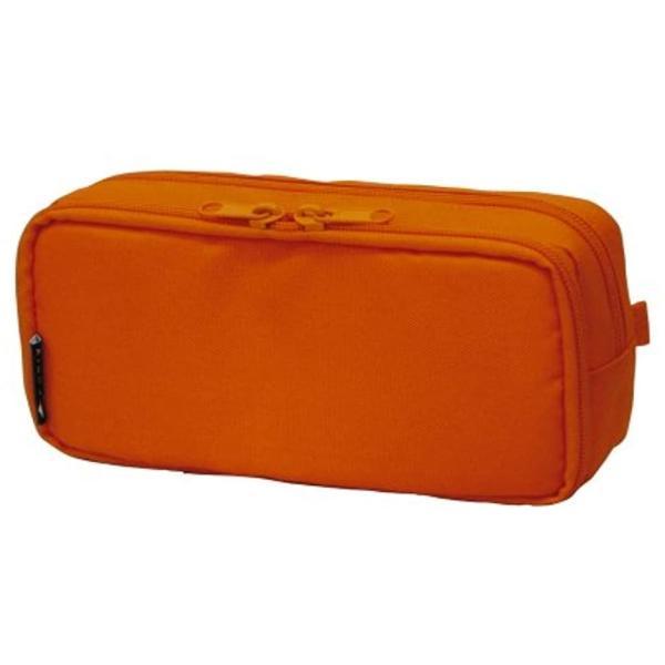 キュービックス ペンケース ラウンドジップ ボックス 106163-04(オレンジ)